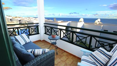 Photo for Apartment in Old Town with Sea & Harbour views, Shared Pool. Wifi & UK/Irish TV