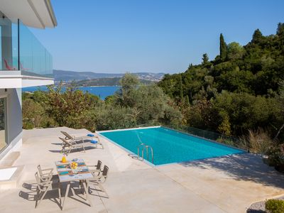 Photo for Brand New Sea View Villa, 400m from the beach and close to Lefkada town