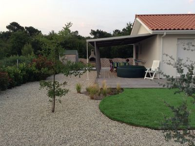 Photo for Beautiful modern house with pool in quiet cul de sac close to lake.