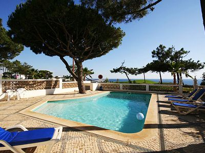 Photo for A spacious and comfortable linked villa with private pool in a front-line position with views throug