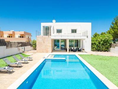 Photo for This 3-bedroom villa for up to 6 guests is located in Colonia De Sant Pere and has a private swimmin