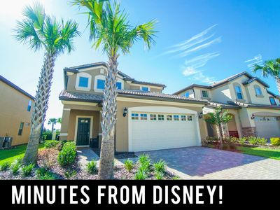 Photo for Minutes from Disney ✦ Modern Pool Home w/ Lazy River ✦ Gated Resort Community