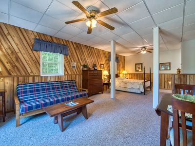 Photo for New!  Sarah's studio queen bed apt, just steps to Lake Junaluska