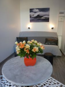 Photo for Furnished studio hyper central Dieppe overlooking the market square and cinema.