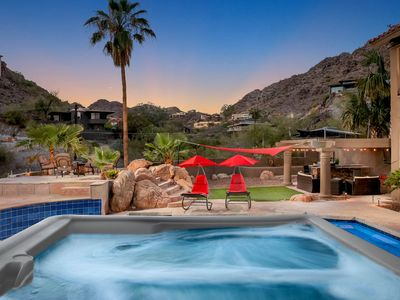 Photo for NEW LISTING! Resort-style home w/pool, hot tub, views - on-site golf, dogs ok