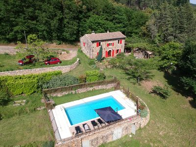 Photo for Former Sheepfold equipped 6/8 people with swimming pool, porch, patio