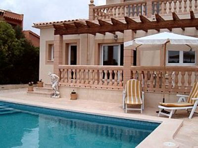 Photo for Detached  Villa with Private Pool, Central Heating and Sea View.