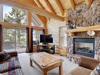 Photo for NEW LISTING! Log lodge w/porch - near golf, hot springs, lakes & skiing