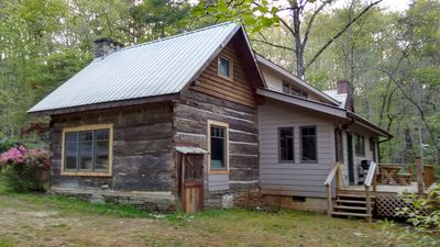 Back of cabin, facing the woods