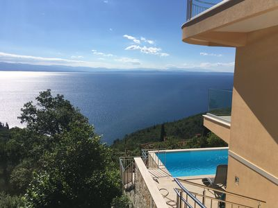 Photo for Breathtaking sea view - Apartment with pool, WiFi, in Medveja, Croatia