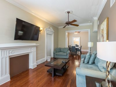 Photo for Dog-friendly condo w/ shared pool, full kitchen & parking - central location!