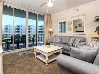 Photo for Welcoming, beachy condo at Waterscape! Free beach chairs! 490 feet of pristine, private beach!