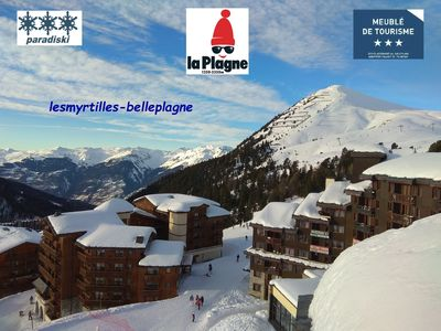 Photo for Duplex BELLE PLAGNE 43m ², big stay, 2 true rooms, 3 *, foot of the tracks