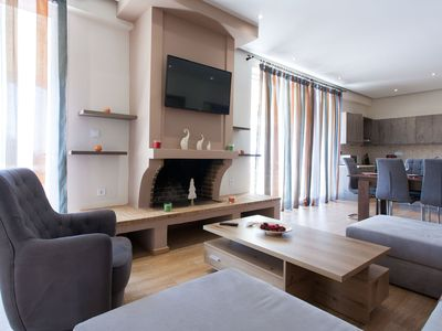 Photo for Artistic 3 bdr apartment with sea view in Glyfada
