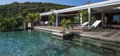 Villa Black Pearl  -  Ocean View - Located in  Magnificent Marigot with Private Pool