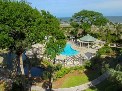 Photo for Fourth-floor condo with balcony, shared heated oceanside pool & hot tub!