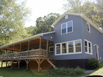 Photo for On the New River, Huge Porch, Well-Equipped Kitchen, WiFi, Pet-Friendly