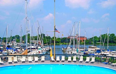 Photo for This Eastport condo has a large deck with amazing views of Spa Creek and downtown Annapolis. Enjoy the community pool and being within walking distance to all the wonderful downtown & Eastport restaurants