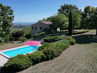 Photo for House in Forcalquier, Luberon, large plot, swimming pool and panoramic views