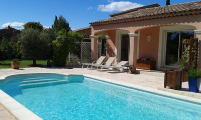 Photo for Apartment of 39 m2 on the 1st floor of a villa with swimming pool and enclosed garden.