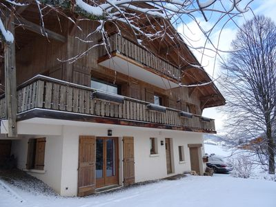 Photo for Convenient and cosy apartment for 4 people with fantastic views of Mont Blanc