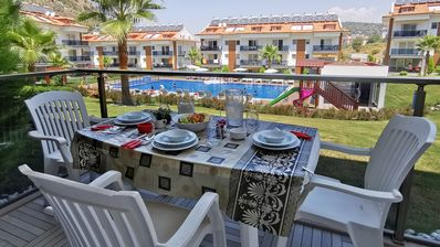 Photo for Stylish One Bedroom Apartment with Shared Pool, Between Fethiye and Olu Deniz