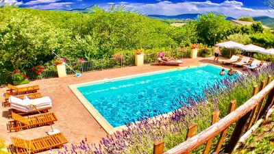 Photo for Spoleto Splash : Tower with private garden + terraces - sleeps 4/5