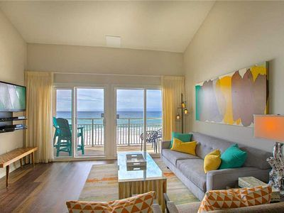 Photo for Crystal Sands 308B - Gulf Front, Free Beach Service, Heated Community Pool!