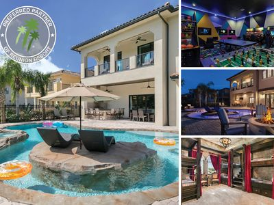 Photo for The Magic Villa at Reunion | 9 Bed, 9 Bath, Pool, Spa & Lazy River, 2 Games Room