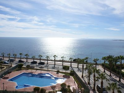 Photo for Lovely Frontline Apartment, Large Communal Pool With Sea Views, Bar/Restaurant A