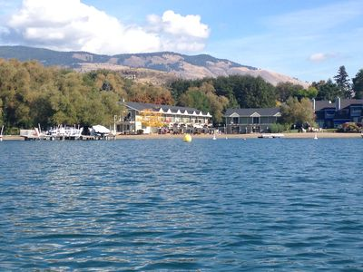 Photo for Kalamalka Lakefront With Private Beach and Boat Lift