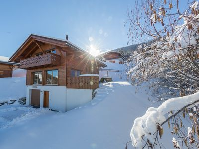 Photo for 5 Star Nendaz Ski Chalet with Spectacular Views. Wood fired hot tub + Sauna