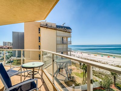 Photo for Waterfront condo w/ a furnished balcony plus shared pool, gym, & beach access