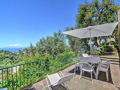 Photo for Villa Franca: A bright and sunny two-story villa situated on a promontory facing the sea, with Free WI-FI.