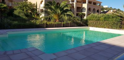 Photo for Appart with communal pool, 2 bedrooms, near downtown and shops