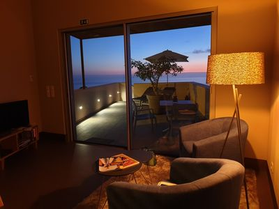 Photo for Unobstructed views of the Atlantic Ocean and pool, large roof terrace