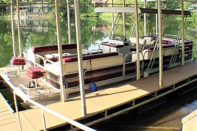 Add unlimited use of our 24' Pontoon (Seats 11) for just $100 per nights stay.
