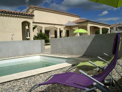 Photo for Modern holidayhome (2016) with private pool near Ruoms