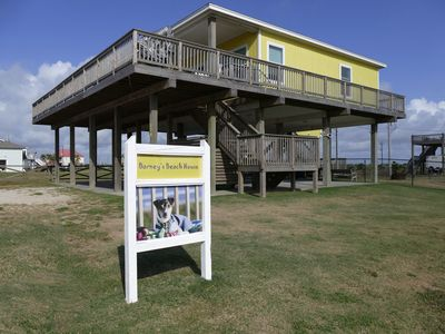 Photo for Barney's Beach House - Ocean Front - Fenced in yard for dogs - Wrap Around Deck