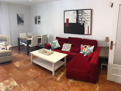 Photo for Apartment 3 Bedrooms - Spacious - Newly refurbished - Second line beach - Center