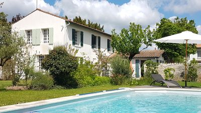 Photo for 8 pers / House *** and charming garden -calme garanti- with swimming pool in town