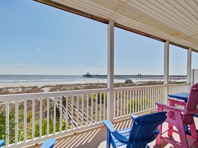 Photo for First-floor villa w/beach and ocean views from spacious balcony