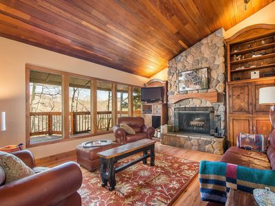 Photo for Free Cancellations, Professional Cleaning, Keyless Entry, Secluded Mountainside Retreat–Updated Home