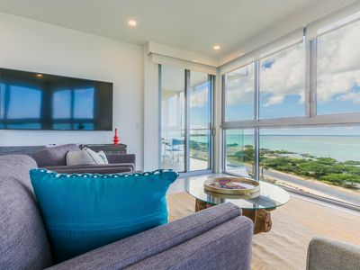 Photo for Peace of mind, comfort and breathtaking ocean view. 3BDR Corner unit. Azure-511 .