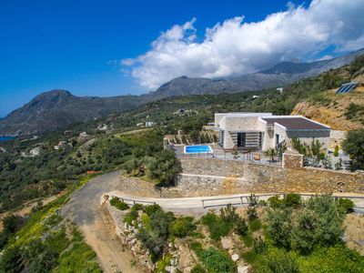 Photo for Stunning sea view, infinite blue, royal relaxation in a new luxury villa