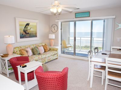 Photo for June 9-15 available. Oceanfront 2bed/2bath just steps from the beach.