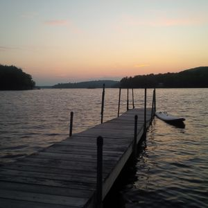 The dock - end of a perfect day in early July.