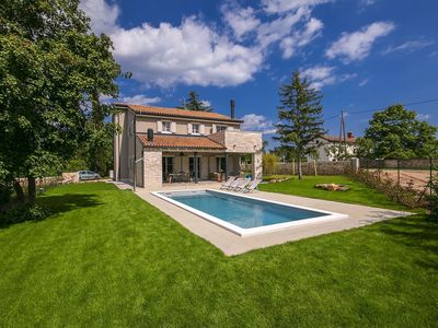 Photo for Luxury villa with designer furniture, private heatable pool and summer kitchen