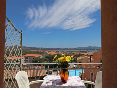 Photo for Punta villa Mare - Two-room apartment with sea view terrace and swimming pool