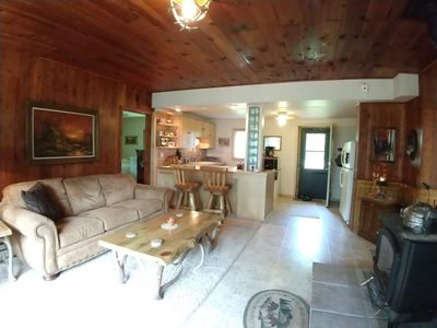 Photo for Beautiful & Peaceful Log Cabin across the road from Grindstone Lake!